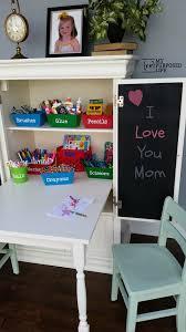 Repurposed Secretary Desk Kids Art Desk Repurposed Armoire My Repurposed Life