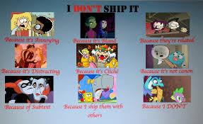 I Ship It Meme - i don t ship it meme by stephgomz04 on deviantart