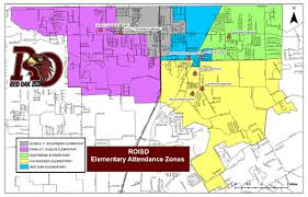 isd map oak isd attendance zones district map