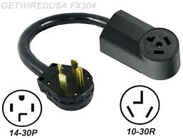 new male 14 30p 4 prong plug to old female 10 30r 3 pin receptacle