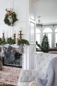 Images Of Mantels Decorated For Christmas Winter Woodland Christmas Mantel Maison De Pax