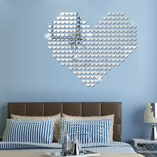 online shop 100pcs 3d heart silver gold wall sticker acrylic