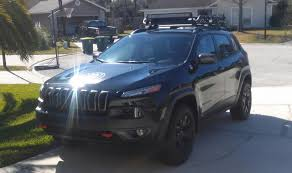 survival jeep cherokee installed roof rack led bar s and accessories 2014 jeep