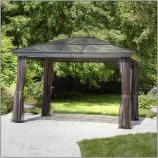 Garden Winds Pergola by Garden Treasures Gazebo Garden Treasures Ft W X Ft L Retangular