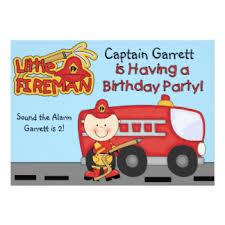 fire truck birthday invitations u0026 announcements zazzle canada