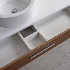 wall hung washbasin cabinet stone resin wooden contemporary