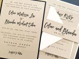 layered wedding invitations wedding invitation wedding invite kraft wedding invitations