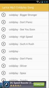 coldplay don t panic mp3 lyrics coldplay full album apk download free entertainment app for
