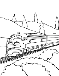 train coloring page free printable coloring pages