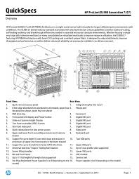 quickspecs hp proliant dl980 generation 7 g7 overview