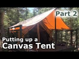 Building A Tent Platform Putting Up Our Canvas Tent Platform Deck Tent Part 2 Our