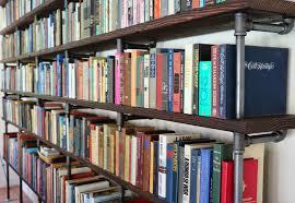 dusty coyote pipe u0026 plank bookshelf