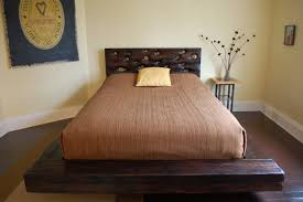 Reclaimed Wood Platform Bed Plans by Furniture Rectangle Dark Brown Wooden Wood Platform Bed With