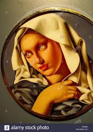 Tamara De Lempicka Art by Madone Tamara De Lempicka Oil Painting Palacio De Bellas Artes