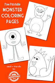 monster coloring pages kid activities monsters and activities