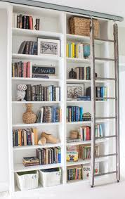 8 Ft Bookshelf Billy Bookcase Hack With Library Ladder The Lilypad Cottage