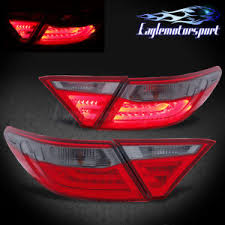 2015 toyota camry tail light 2015 2016 toyota camry 4 door sedan red smoke rear led brake tail