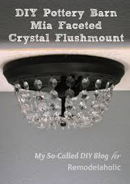 remodelaholic update a dome ceiling light with faceted crystals