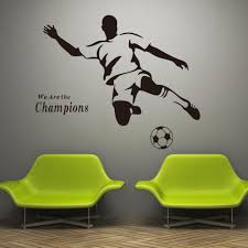 football boy wallpaper 3d wall stickers for kids room vinyl