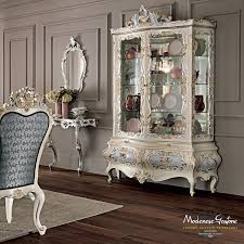 dining room glass cabinet dining room venezia style with floral inlays and carves dining