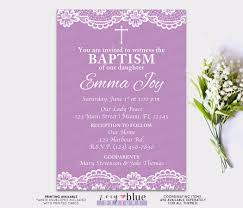 Holy Communion Invitation Cards Lace Baptism Invitation Purple First Communion Invitation