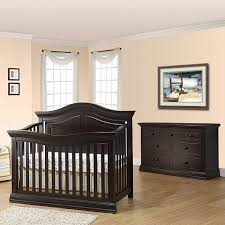 sorelle proximo 2 piece nursery set in dark espresso crib and