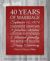 40th wedding anniversary gift ideas 40th wedding anniversary gift ideas hd images unique best 25 40