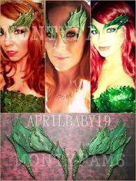 Poison Ivy Halloween Costume Ideas Poison Ivy Green Leaf Eyebrow Costume Mask Uma Thurman Elf 39 99