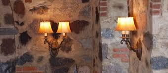 Stone Wall Sconce Story Rustic Lighting Portfolio Brass Light Gallery