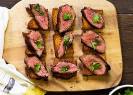 beef canape recipes recipe cacao and vanilla beef fillet canapés sainsbury s