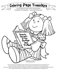 dulemba coloring page tuesday reading doll