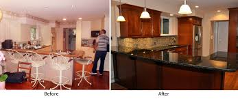 Replace Kitchen Countertop Kitchen Before And After Kitchen Renovation With Refacing White