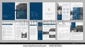 annual report template word design annual report cover vector template stock vector 609797603