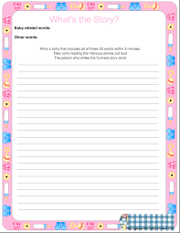 Free Baby Shower Scramble Games - what u0027s the story free printable baby shower game