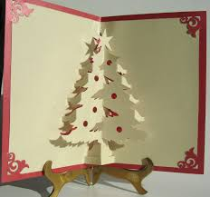 christmas tree pop up up greeting card home décor 3d handmade