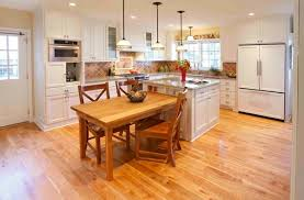 kitchen island with attached dining table 15 beautiful kitchen island with table attached home design lover 13