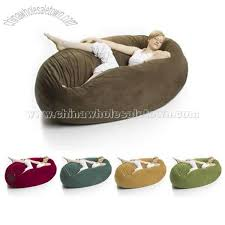 zak cocoon 6 u0027 fuf bean bag chair in micro suede bean bag sofa