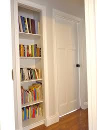 Shelves Built Into Wall D I Y D E S I G N Closet Bookshelf