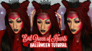 evil queen of hearts halloween tutorial youtube