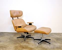 select modern plycraft eames style leather lounge chair u0026 ottoman