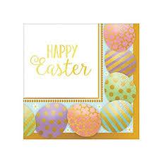 easter napkins golden easter egg beverage napkins 8ct ultimate party store