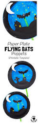 paper plate bat puppet craft kids craft room
