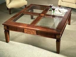glass top coffee table with storage mahogany coffee table with storage fantastic square glass top coffee