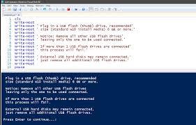 powershell quote list powershell scripting create usb install media for windows 10