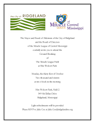 the city of ridgeland blog archive groundbreaking for miracle