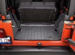 weathertech jeep wrangler weathertech jeep tj cargo area liner 40074 41074 41074