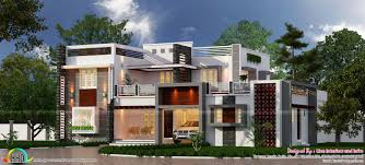 3815 square feet 4 bedroom box type home kerala home design