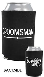 wedding can koozies 18 best wedding party can coolers images on coolers