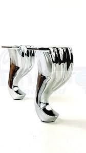 Unterschrank K He Amazon De 4 X Ersatz Metall Möbelfüsse Beine In Chrom Optik Für
