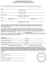 10 free sample travel consent form u2013 printable samples